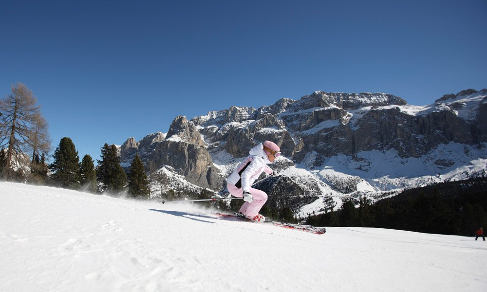 Sciare in Val d'Ega o a Gardena